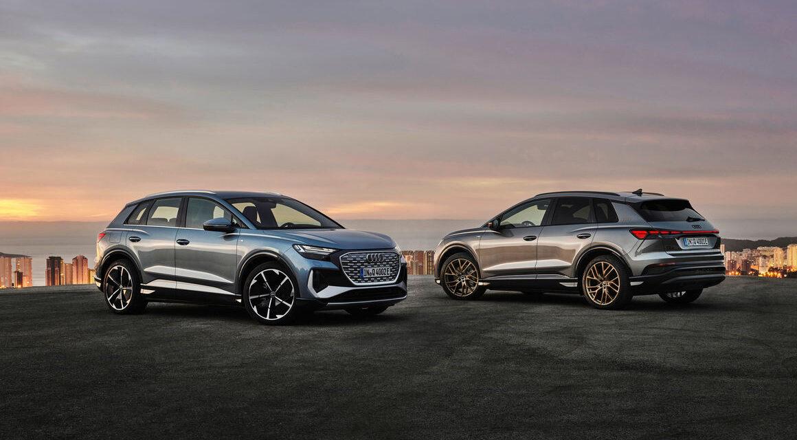 E-Antrieb mit vier Ringen: Audi Q4 e-tron und Q4 Sportback e-tron